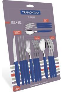 Faqueiro Inox 16 Peças Plenus Azul 23498101 Tramontina