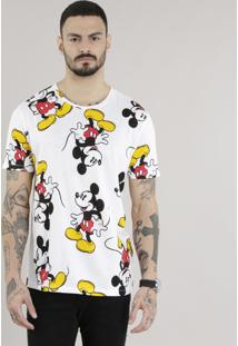 Camiseta Estampada Mickey Off White