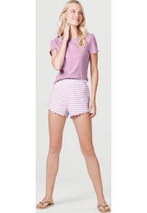 Pijama Curto Feminino Em Ribana
