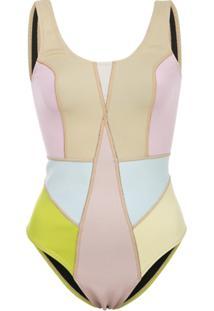 Cynthia Rowley Kalleigh Colour Block Swimsuit - Estampado