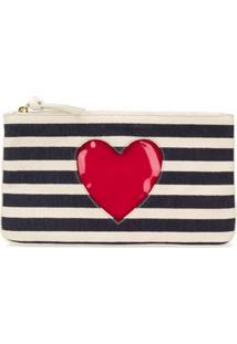 Moschino Cheap & Chic Striped Clutch Bag - Azul