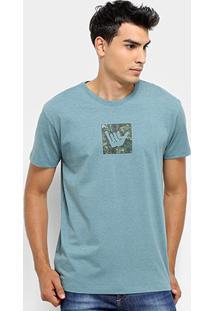 Camiseta Hang Loose Silk Camou Masculina - Masculino-Azul