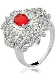 Anel Le Diamond Oval Rubi Vermelho
