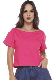 Blusa Moletinho Decote Canoa Pink