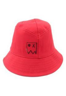Chapeu Bucket Prorider Dark Face Vermelho Com Desenhos - Dkfbucketv