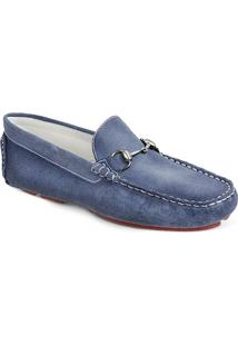 Sapato Masculino Driver Sandro Moscoloni Bahama Azul/Jeans