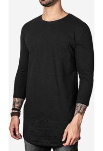 Camiseta Longline 3/4 Barra Furada 100621
