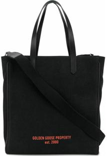 Golden Goose Bolsa Tote Golden Property North-South California - Preto