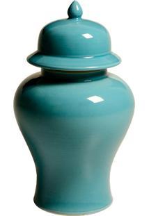 Vaso Decorativo De Porcelana Azul Jarid Grande