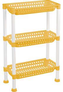 Estante 70,6X45Cm Amarela E Branca - Ordene