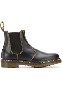 Dr. Martens Ankle Boot Com Bico Arredondado - Preto