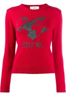 Alberta Ferretti Help Me Sweater - Vermelho