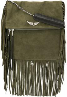 Zadig&Voltaire Rockson Fringed Cross Body Bag - Verde