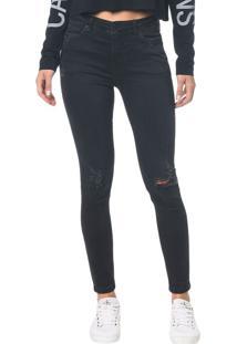 Calça Jeans Five Pocktes Super Skinny Ckj 001 Super Skinny - Preto - 34