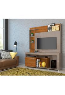 Estante Para Home Theater E Tv Até 50 Polegadas Ícaro Fendi E Naturale