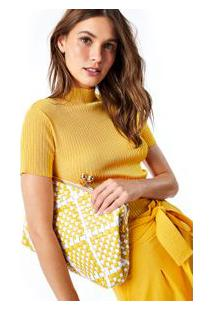 Carteira Tresse Bicolor Amarelo/Preto