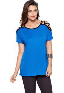 Blusa Modischt-Shirt Crossed Azul