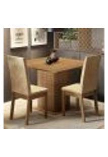 Conjunto Sala De Jantar Madesa Nati Mesa Tampo De Madeira Com 2 Cadeiras