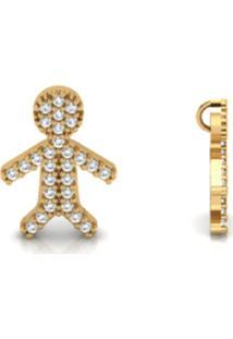 Pingente La Madame Co Em Ouro 18K Cravejado Com Brilhantes