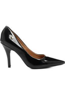 Apato Scarpin Vizzano Bico Fino - Feminino-Preto