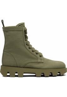 Prada Ankle Boot Em Jeans - Verde