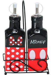 Galheteiro Mickey® Parts- Preto & Vermelho- 2Pçsmabruk