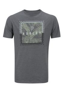 Camiseta Hurley Silk Be Fronds - Masculina - Cinza