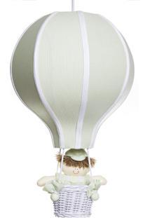 Lustre Balão Grande Com Boneco Quarto Bebê Infantil Menino Potinho De Mel Verde