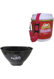 Cooler Térmico Brahma Brasil 20 Litros + Balde De Gelo Cervejaria Wäls 7