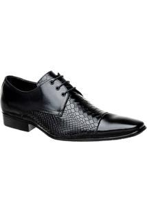Sapato Bigioni Social Masculino Com Cadarço - Masculino-Preto