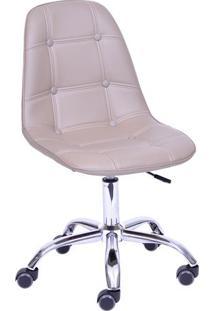 Cadeira Eames Botonãª- Fendi & Prateada- 93X47X41Cm