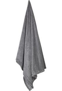 Cobertor Solteiro Loft Preto E Cinza (150X220Cm)