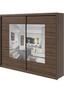 Guarda-Roupa Toronto Plus Com Espelho - 2 Portas - 100% Mdf - Imbuia Naturale Ou Imbuia Naturale Com Offwhite
