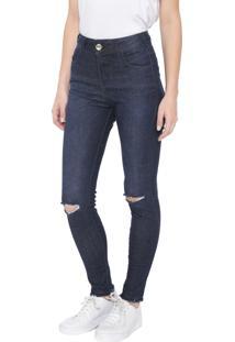 Calça Jeans Colcci Skinny Bia Azul-Marinho