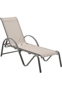 Chaise Com Tela Búzios -Rivatti - Bege