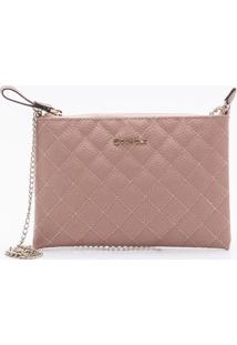 Bolsa Shoulder Bag Matelassê Misty Rose - P