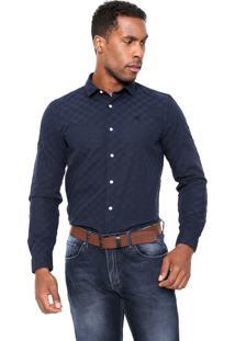 Camisa Timberland Slim Azul-Marinho