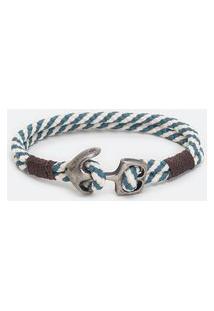 Pulseira Masculina Em Corda Com Âncora | Viko | Azul | U
