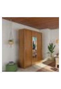 Guarda-Roupa Casal Com Espelho Manu Premium Imbuia 3 Pt 4 Gv