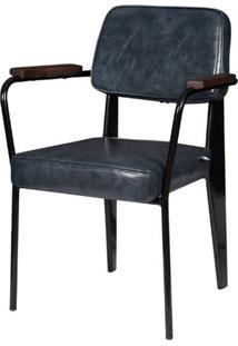 Cadeira Jean Provve Estofada C/ Braco Cinza 81 Cm (Alt) - 47067 - Sun House