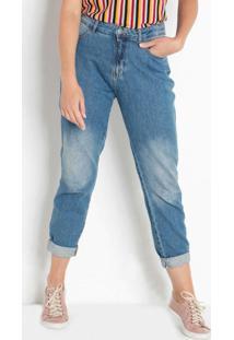 Calça Jeans Mom Azul Médio