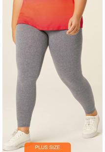 Calça Cinza Legging Em Cotton Plus