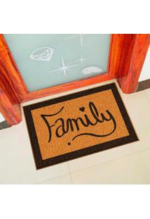 Capacho De Vinil Family Amarelo