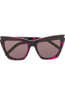 Saint Laurent Eyewear Óculos De Sol Quadrado Sl214 - Preto