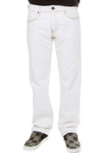 Calça Jeans Forum Reta Délavé Branca