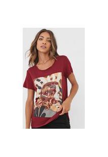 Camiseta Carmim Girl Vinho