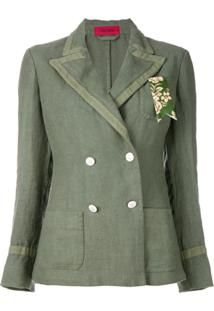 The Gigi Blazer Com Abotoamento Duplo - Green