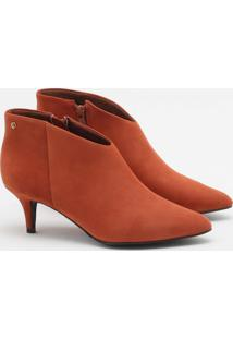 Ankle Boot Nobuck Castanha