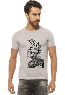 Camiseta Joss - Caveira Moicano - Masculina - Masculino-Mescla
