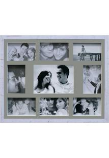 Painel De Fotos Bee Collection 43X53 Rustics 8 Fotos 10X15 E 1 Foto 15X21 Branco Kapos
